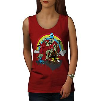 Rainbow Art Draw Women RedTank Top | Wellcoda