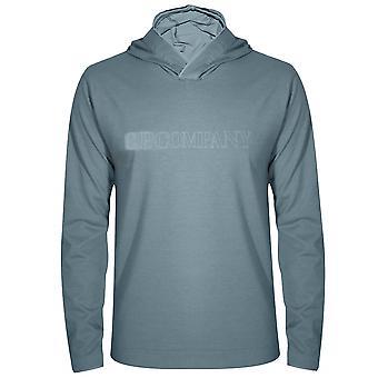 C.P. Company C.P. Company Teal Hooded T-Shirt
