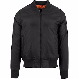 Build Your Brand Mens Contrast Bomber Jacket