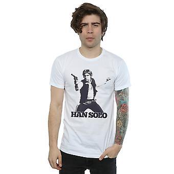 Star Wars menn Han Solo Retro Foto t-skjorte