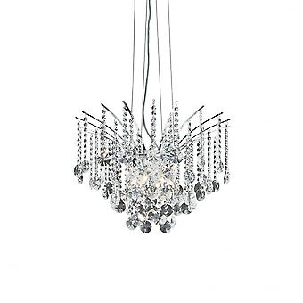 Ideal Lux Audi Suspended Crystal Chandelier, 6 Bulb