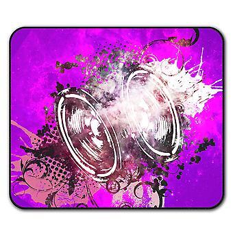 Głośnik niskotonowy basowy antypoślizgowe mysz mata podkładka 24 cm x 20 cm | Wellcoda