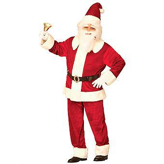Super Deluxe Santa pak Velvet (jas broek hoed band)