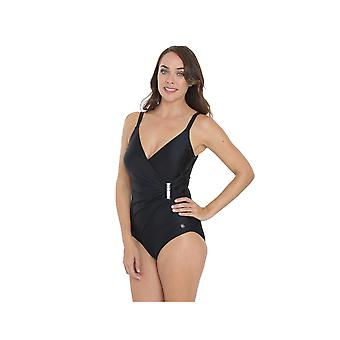 Seaspray SY006202A Women's Black Solid Colour Costume One Piece Swimsuit