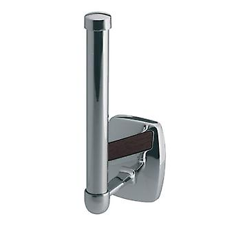 Vertical Toilet Paper Rack WC Roll Holder Bathroom Chromed Zamak Wall Mounted