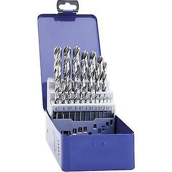 Exact 32003 HSS Metal twist drill bit set 19-piece cut DIN 338 Cylinder shank 1 Set