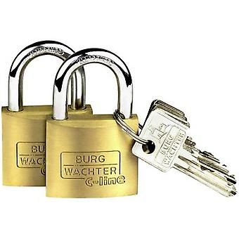 Burg-Wächter 2er Indstil Quadro 222 40 SB hængelås messing nøgle