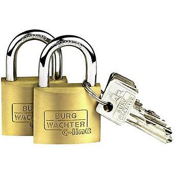 Burg Wächter 2er Set Quadro 222 40 SB Padlock Brass Key