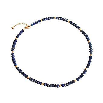 Gemshine - dames - collier - lapis lazuli - facetté - bleu - 45 cm