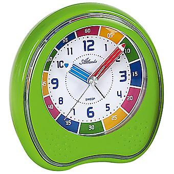 Atlanta 1953/6 alarm clock kids alarm clock green quietly without ticking clock of learning for children