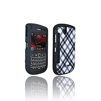 Speck Plaid Fitted Case for BlackBerry Bold 9650 (Black / White) (Bulk Packaging)