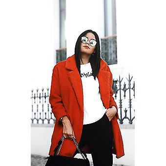 IKRUSH Womens Kayli Boucle Kragen Button Mantel