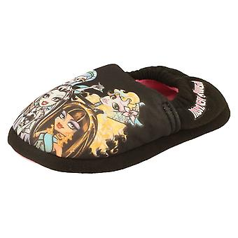 Girls Monster High Slippers 3D Big Vamp Print