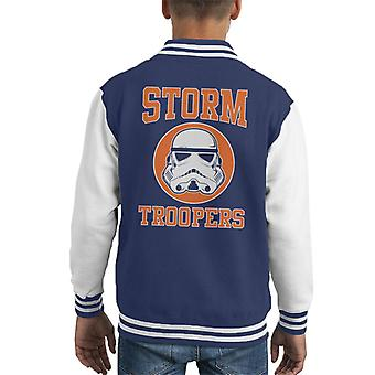 Original Stormtrooper Orange College Text Kid Varsity Jacket