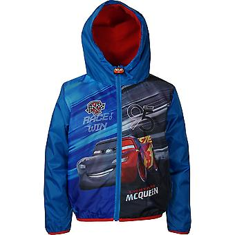 Boys RH1485 Disney Cars Lightweight Hooded Jacket with Bag Size;3-8 Years