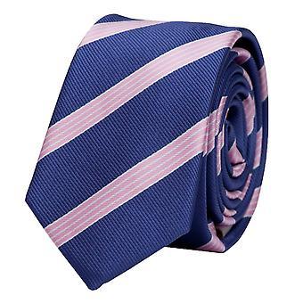 Schlips Krawatte Krawatten Binder 6cm blauviolett rosa weiß gestreift Fabio Farini