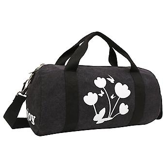 Black weekendbag or exercise bag in durable fabric