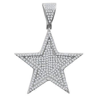 925 sterling silver micro pave pendants - STAR