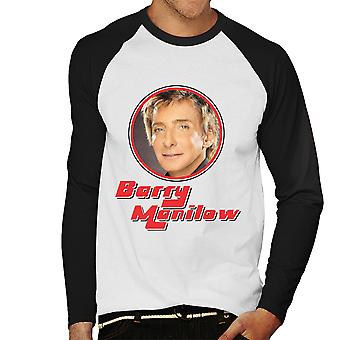 Barry Manilow Retro Foto Frame Herren Baseball T-Shirt Langarm