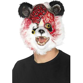 Zombie Panda Mask, Black & White, EVA, with Fur