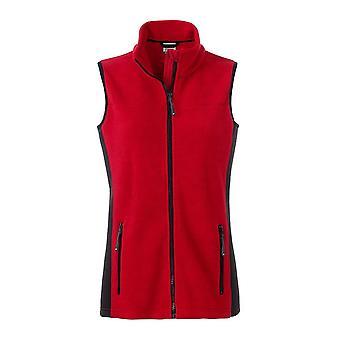 James och Nicholson Womens/damer arbetskläder Fleece Bodywarmer