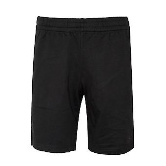 EA7 Black Logo Cotton Shorts