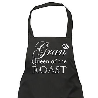 Królowa Gran pieczeń czarny fartuszek