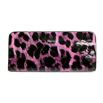 Ladies Leopard Print Patent Finish Purse. Ella 72550