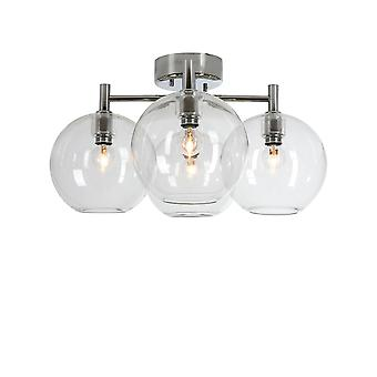 Belid - Gloria Flush Decke Licht LED Klarglas verchromt 20094418