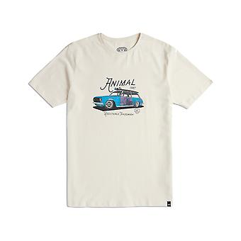 Animal Trip Short Sleeve T-Shirt in Antique Cream