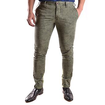 Incotex Ezbc093015 Men's Green Cotton Pants