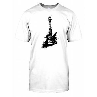 E-Gitarre Pop-Art Design Herren T Shirt