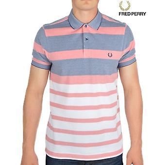 Fred Perry Stripe Oxford Pique mäns kort ärm Polo Shirt M7202-224