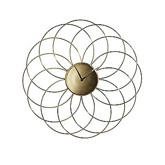 Heine home large wall clock metal effective look gold-tone approx. 43 cm