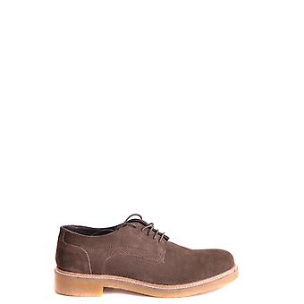 Base London Ezbc207002 Men's Brown Suede Lace-up Shoes