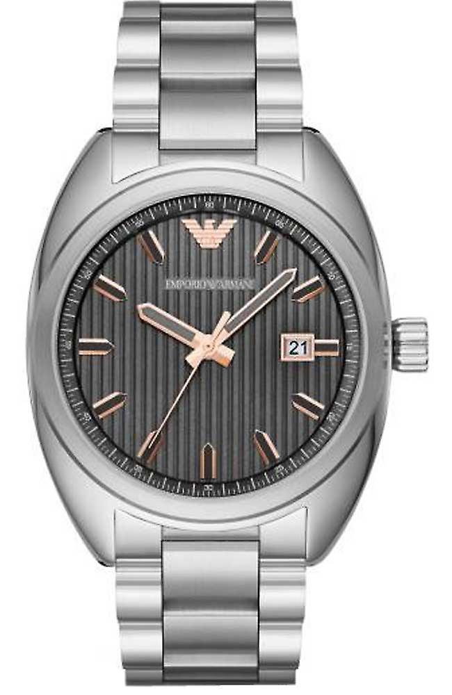 Emporio Armani Men's Watch Silver Bracelet Rose Gold Classic Ar6128
