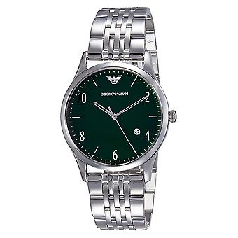 Emporio Armani Ar1943 Green Dial Men's Stainless Steel Watch