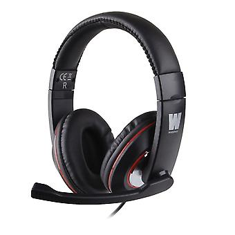 WASDkeys Multi-Platform Stereo Gaming Headset for PC and Sony PS4 - Black (H200)