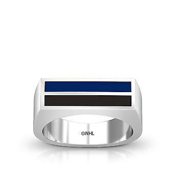 Tampa Bay Lightning Ring In Sterling Silver Design by BIXLER