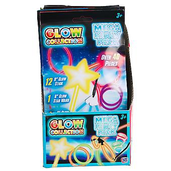 "Glow Collection Mega Party Pack - 6"" Glow Star Wand"