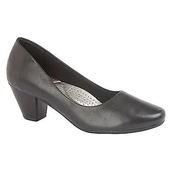 Boulevard Womens/Ladies PU Leather Plain Court Shoe (45mm Heel)