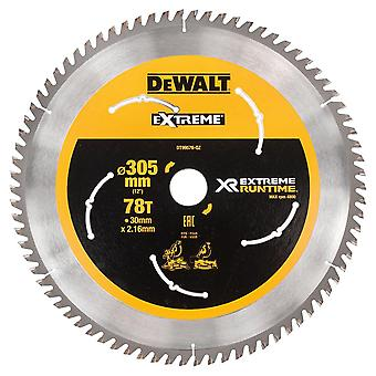 DeWALT DT99576-QZ XR FLEXVOLT Mitre Saw Blade 305mm x 30mm x 78T