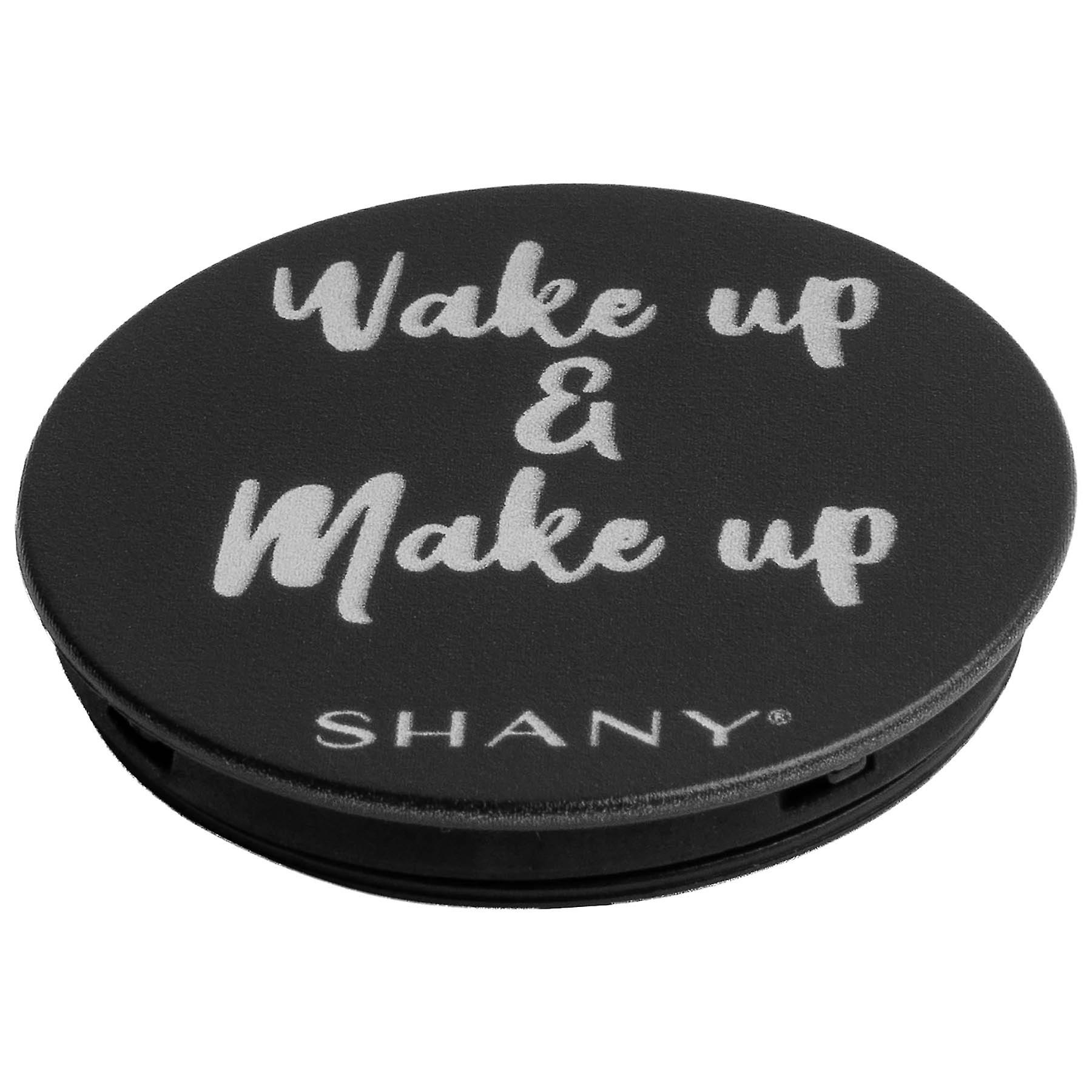 SHANY Mobile Phone Holder - Collapsible iPhone or Samsung Phone Grip & Stand with Custom Makeup Quote - WAKE UP AND MAKEUP