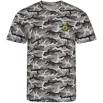 Kings Own Scottish Borderers-licenseret britisk hær broderet camouflage print T-shirt
