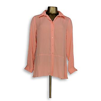 Joan Rivers Classics Collection mulheres ' s Top 2XS blusa de seda laranja A288773