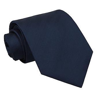 Marineblå sildeben silke klassisk slips