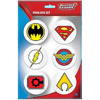 Justice League Superhelden Logo-Pong-Ball-Set