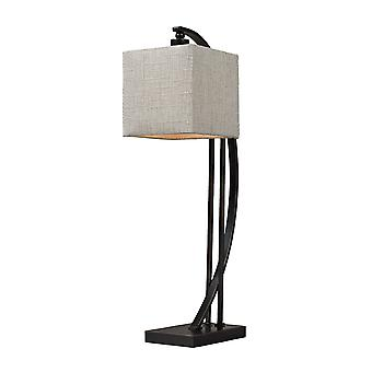 Arched metal table lamp in madison bronze