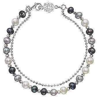 Dower & Hall Woman 925 Silver Multicolored Ronde Pearl FINENECKLACEBRACELETANKLET