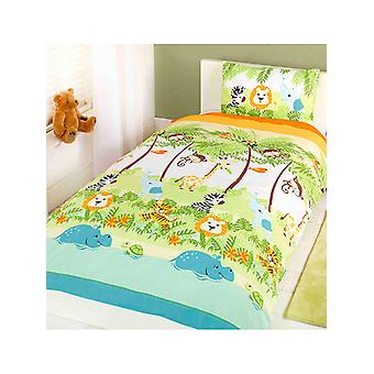 Jungle Boogie 4 in 1 Junior Bedding Bundle (Duvet, Pillow and Covers)
